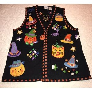 "Vintage ""Ugly"" Halloween Sweater Vest"